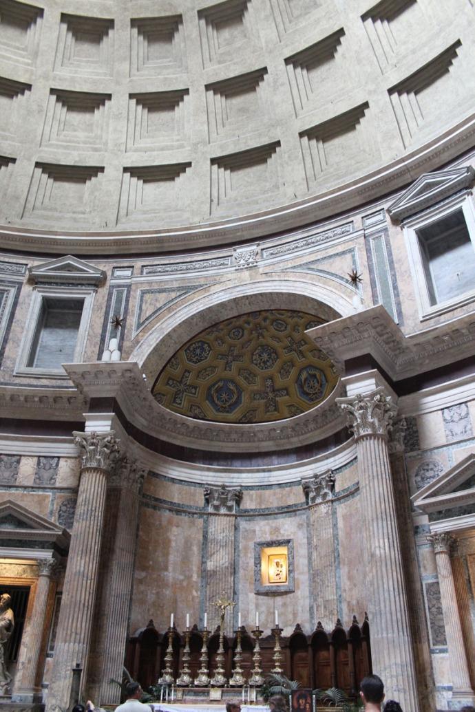 Rome Pantheon columned altar