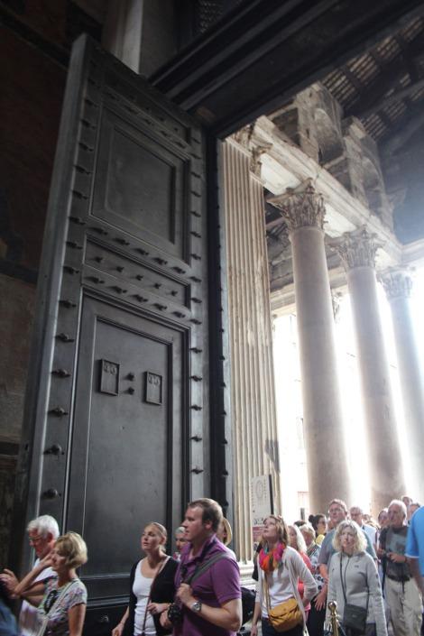 Rome Pantheon doors, vert
