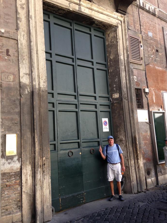 Rome Pantheon Inn doors & wally