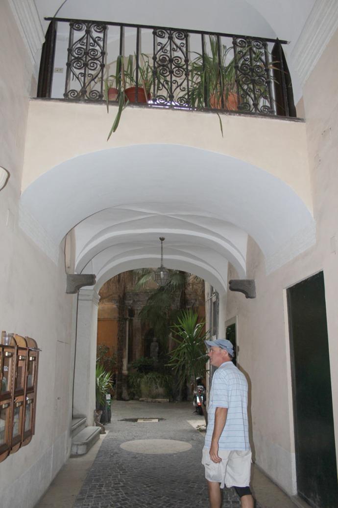 Rome Pantheon Inn hallway