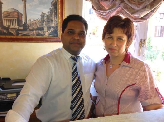 Rome Pantheon Inn staff