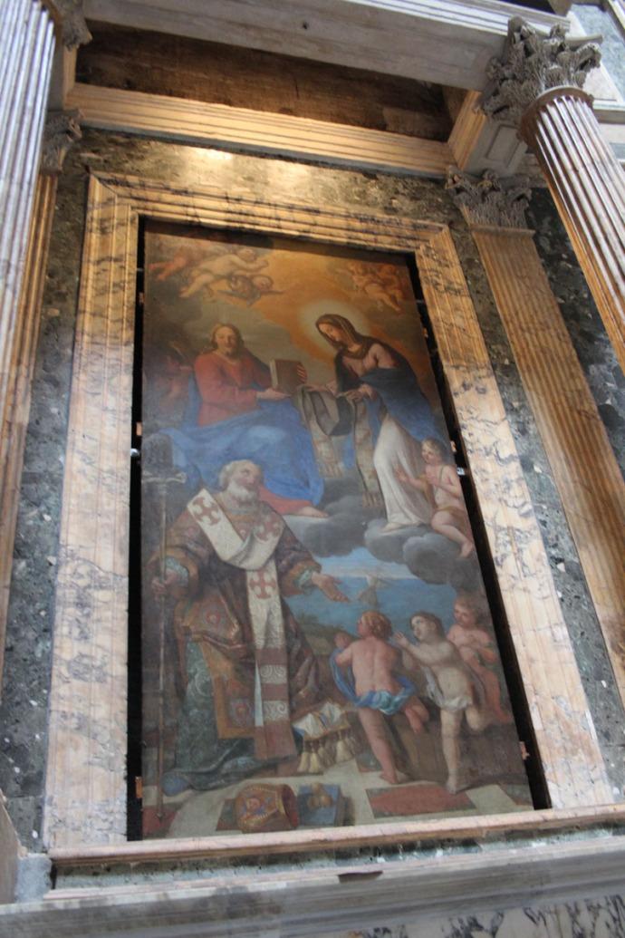 Rome Pantheon painting