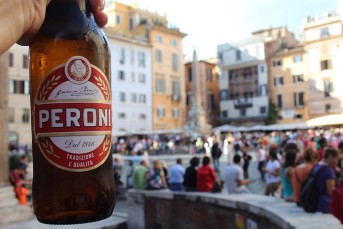 Rome Peroni bottle, Pantheon Piazza