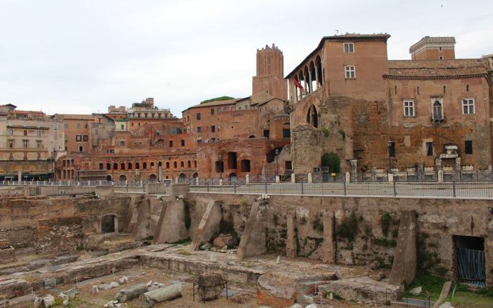 Rome Roman buildings, excavation