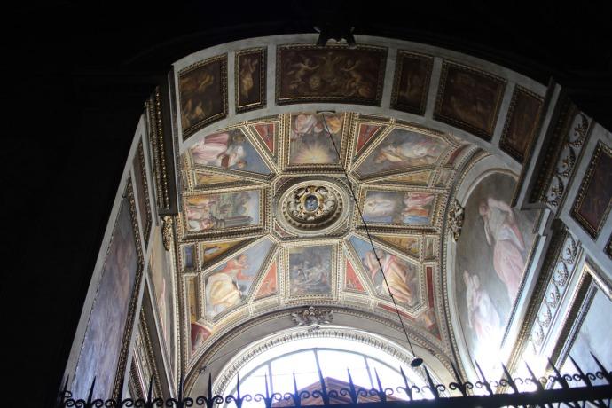 Rome Santa Maria chapel dome ceiling