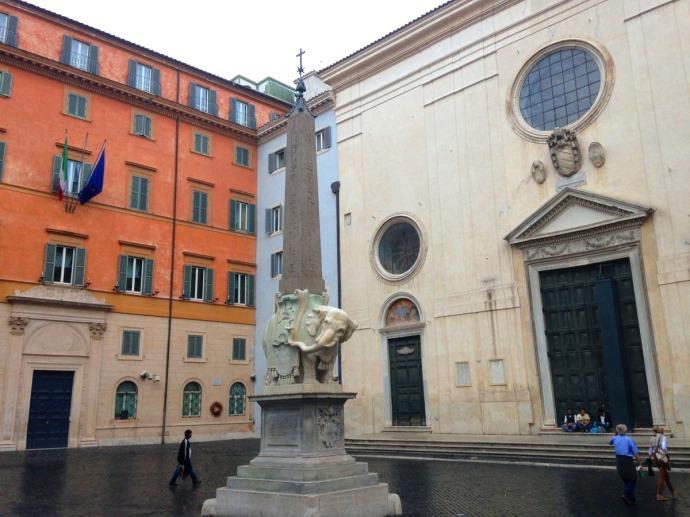 Rome Santa Maria Elephant Piazza della Minerva