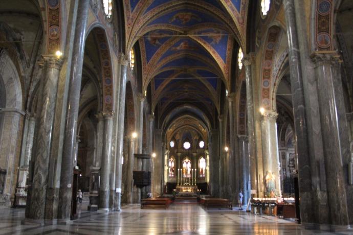 Rome Santa Maria main hall view