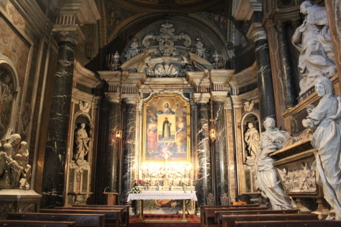 Rome Santa Maria marble chapel