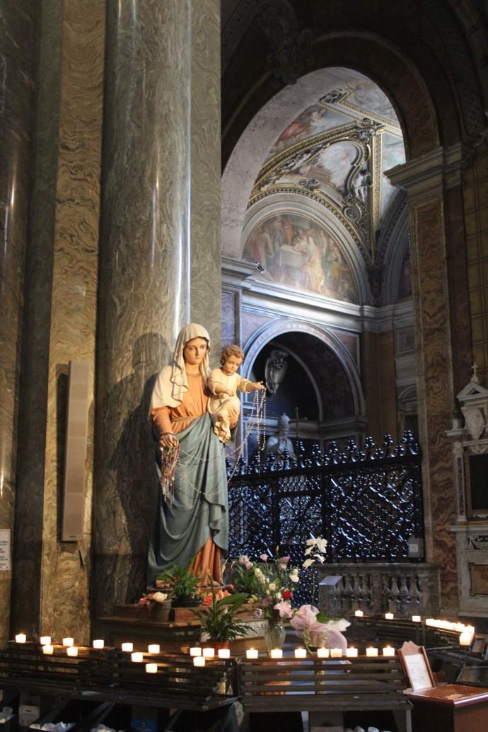 Rome Santa Maria mary vertical
