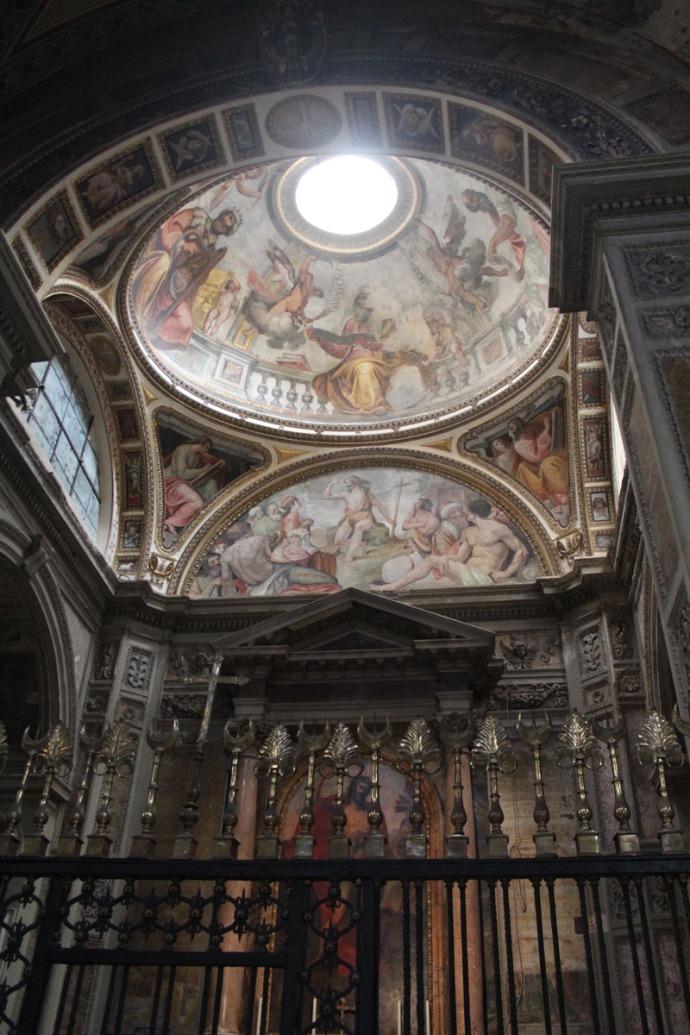 Rome Santa Maria occulus chapel vert