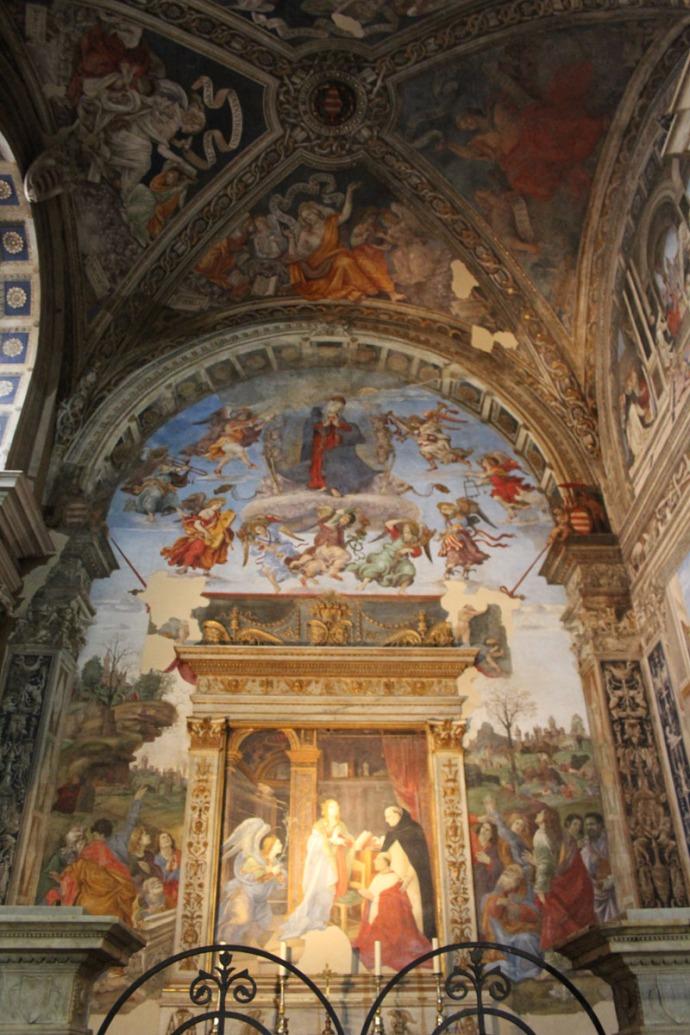 Rome Santa Maria painted chapel