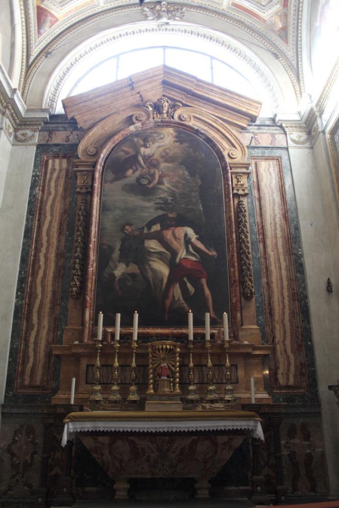 Rome Santa Maria painting & altar
