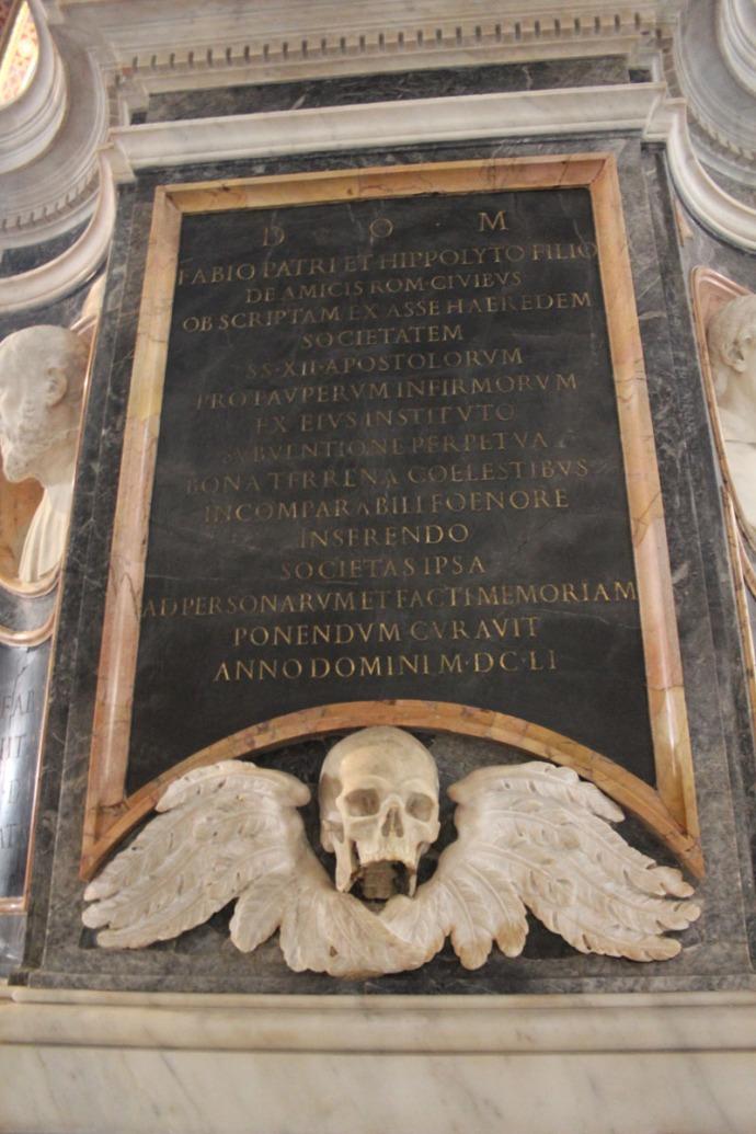 Rome Santa Maria skull memorial
