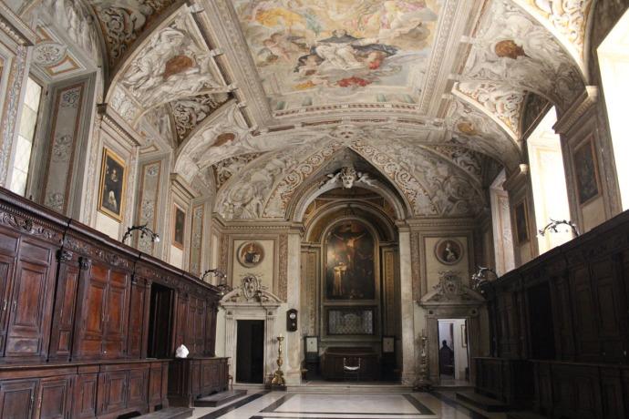 Rome Santa Maria wood cabinets
