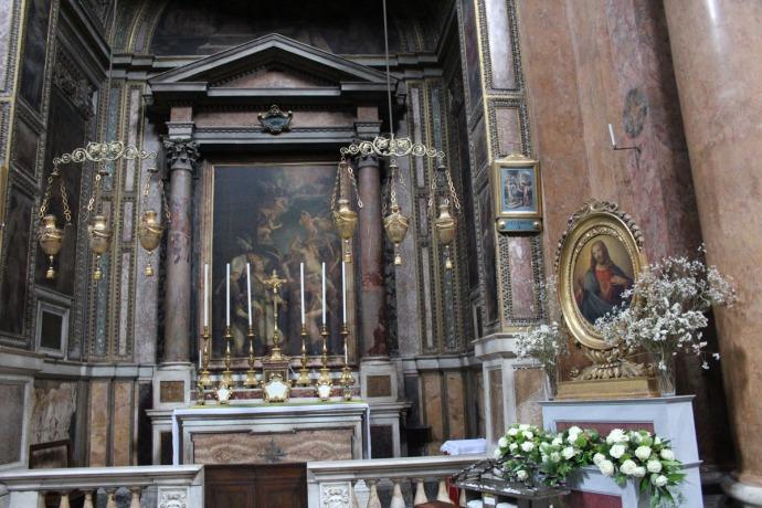 Rome, Santissima Trinità dei Pellegrini hori view