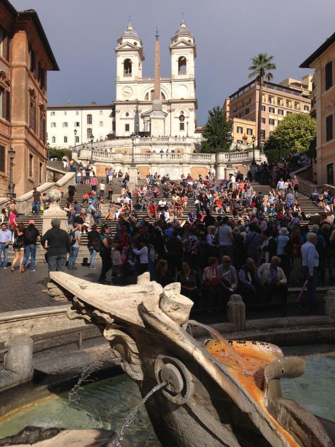 Rome Spanish Steps & fountain