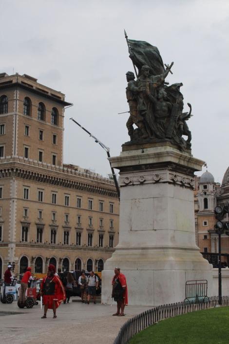 rome statue & gladiators