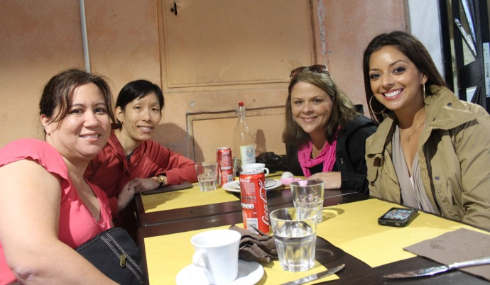 Rome The Mirror Trastevere lunch friends