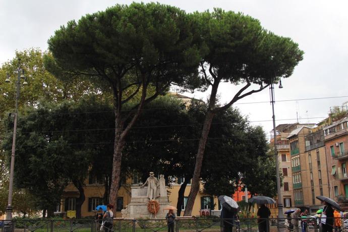 Rome Trastevere statue