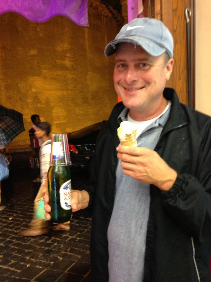 Rome Wally with beer & gelato