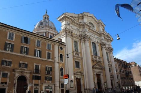 Rome yellow columned bldg