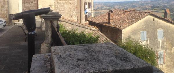 Todi Garibaldi lookout view