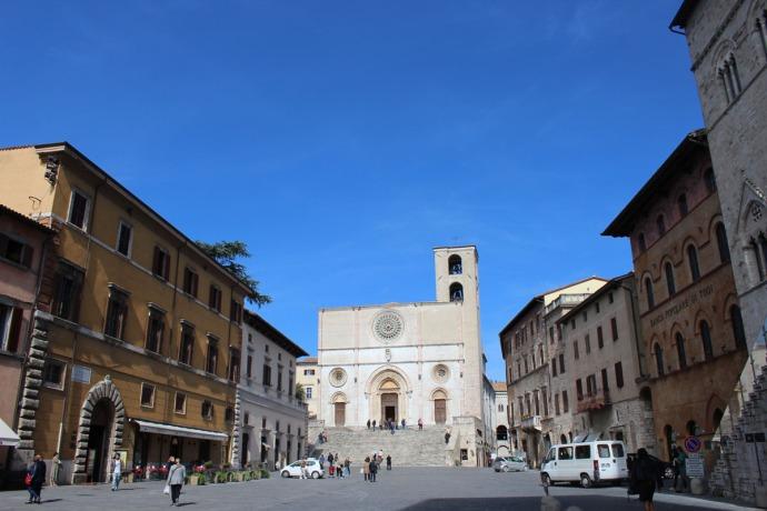 Todi PIazza del Popolo, The Cathedral