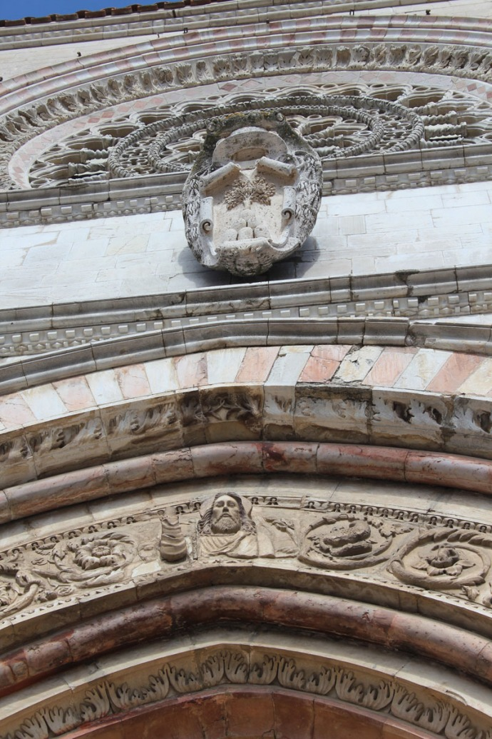 Todi The Cathedral stone carved details