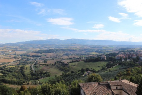 Todi, view towards Perugia