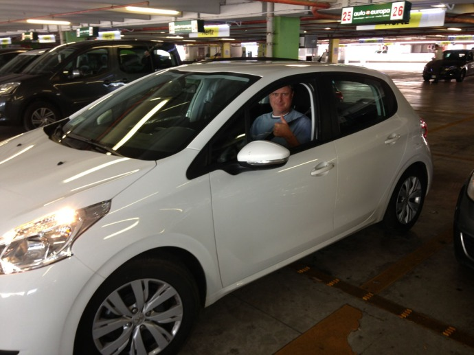 Wally in Peugot at rental