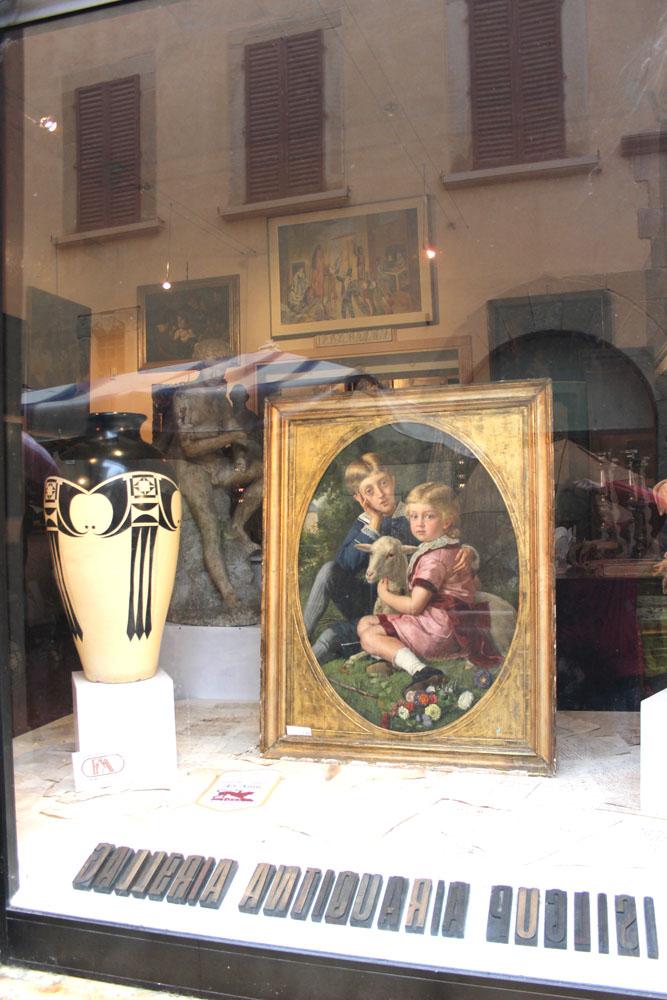 Arezzo childrens painting in window