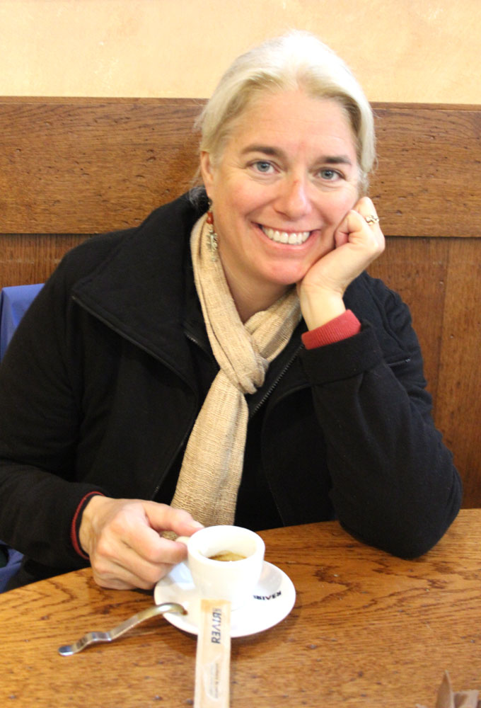 Arezzo espresso break, Jamie