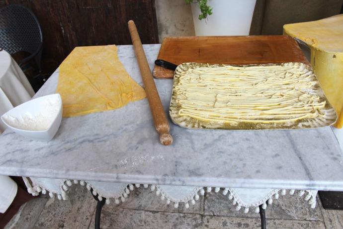 Arezzo pasta making display