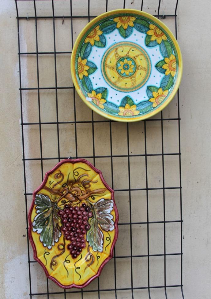 Castiglione del Lago ceramic, grape platter