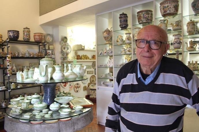 Castiglione del Lago ceramic shop owner
