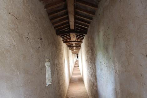 Castiglione del Lago fortress interior walkway