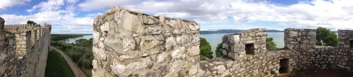 Castiglione del Lago fortress walls view pano