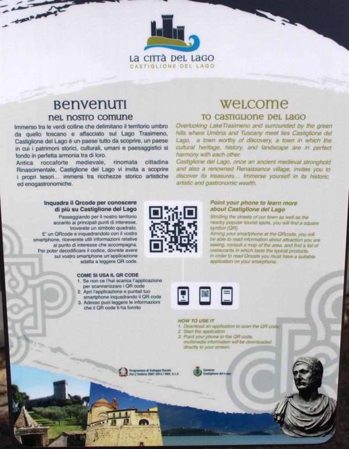 Castiglione del Lago info sign