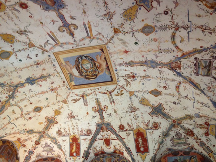 Castiglione del Lago Palazzo della Corgna ceiling fresco