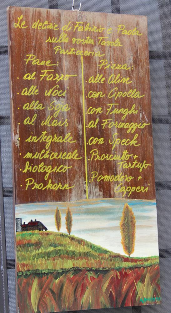 Castiglione del Lago pasta sign