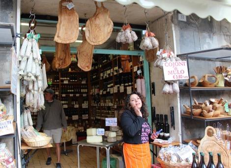 Castiglione del Lago salesgirl in shop