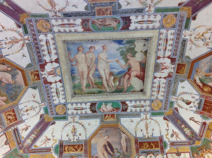 Castiglione Palazzo della Corgna ceiling nude women