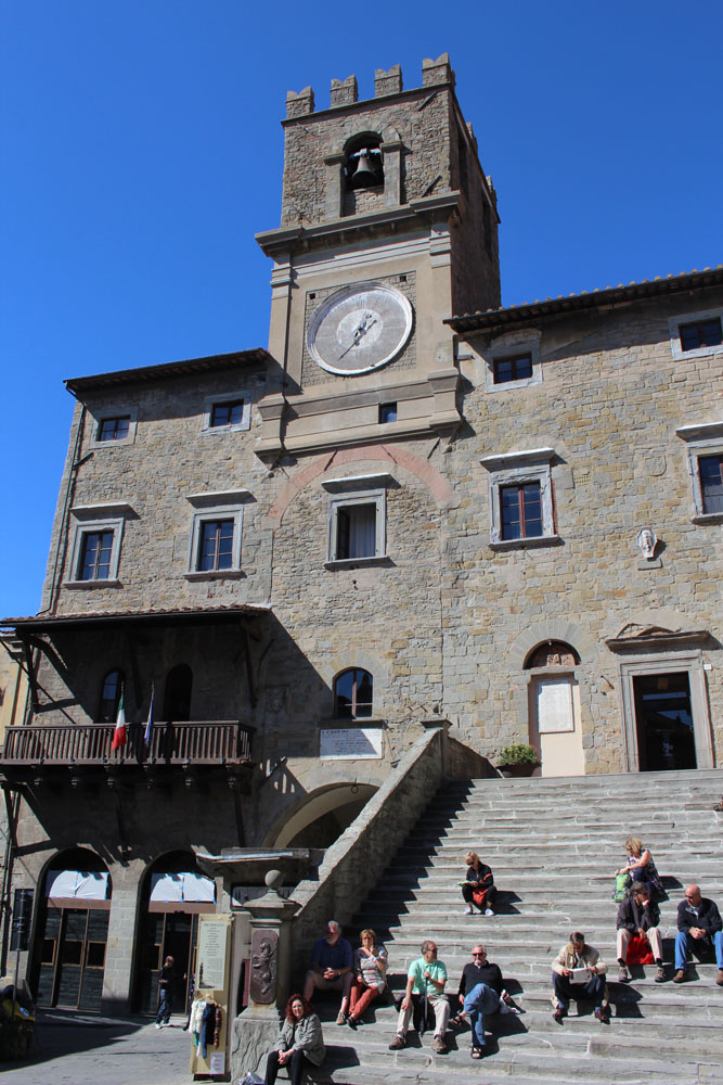 Cortona bell tower steps