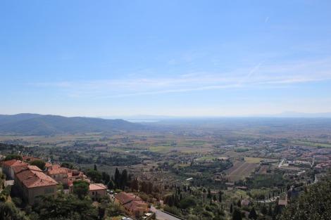 Cortona view to Lago Castiglione