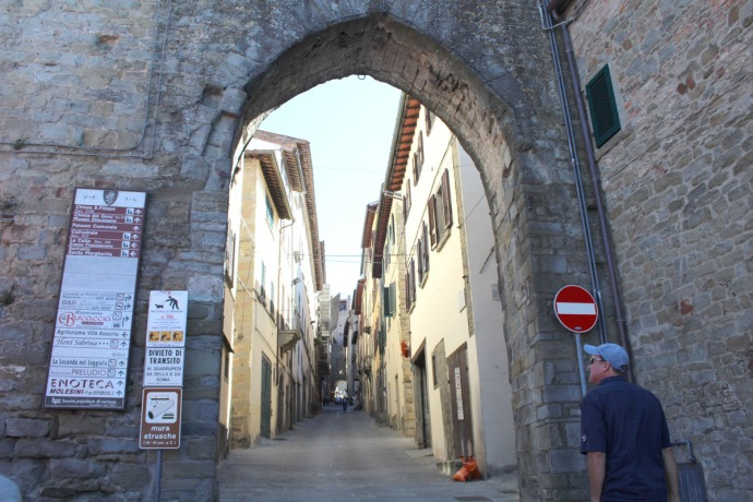 Cortona walled entrance gate
