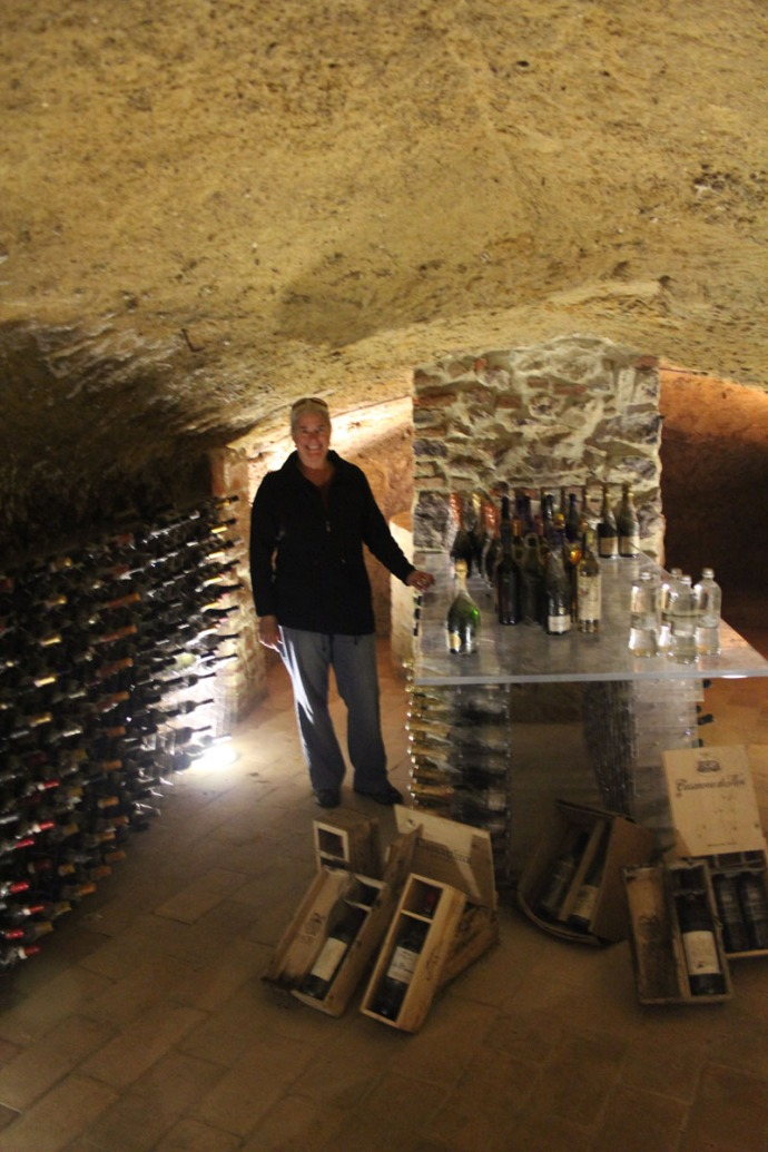 Griffins Resort wine cellar, Jamie