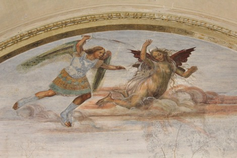 Monte Oliveto angels fighting
