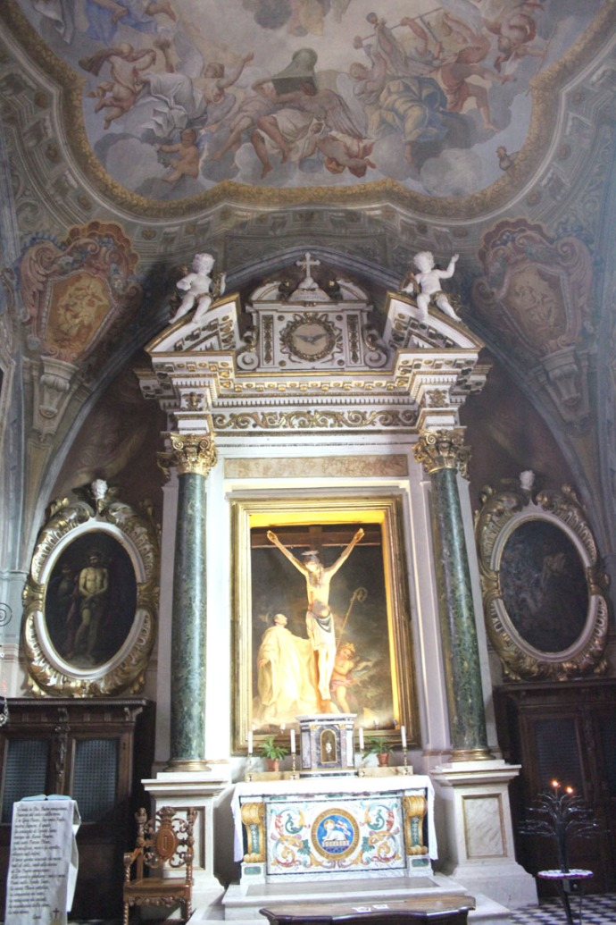 Monte Oliveto crucifixion painting