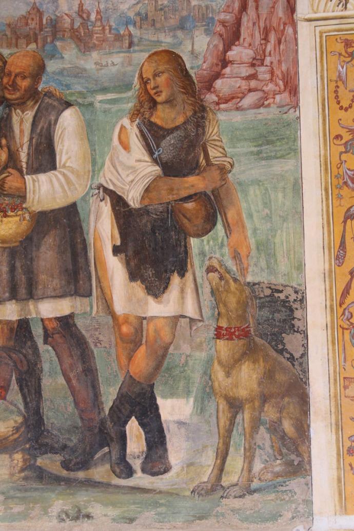 Monte Oliveto girl and dog