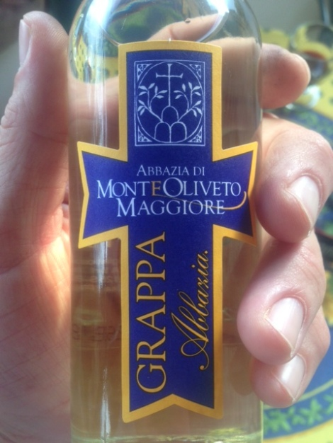 Monte Oliveto grappa bottle